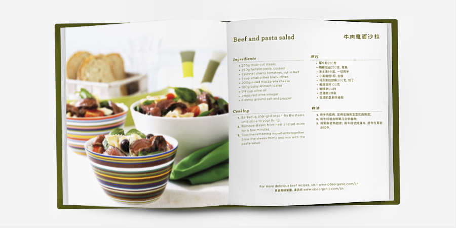 Layout of recipe book.